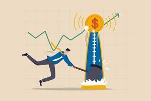 o preço dos ativos de investimento atingiu o nível mais alto, mercado em alta, estoque, criptomoeda ou conceito de preço do ouro vetor