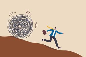 empresário fugindo do círculo de problemas vetor