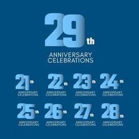 Ilustração de design de modelo de vetor de celebração de 29º aniversário