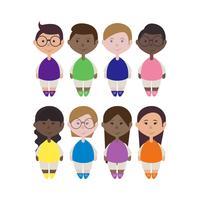 Ilustração de crianças de vetor