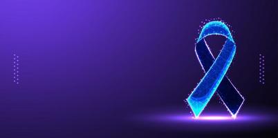 fita wireframe, dia mundial da aids, low poly. ilustração vetorial vetor