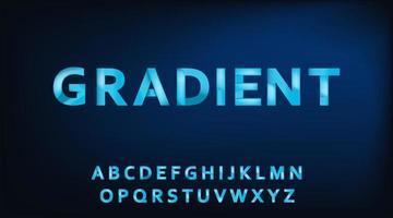 ilustração em vetor gradiente alfabeto tipografia