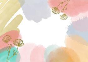 fundo abstrato decorativo com elementos em aquarela pintados à mão vetor