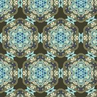 fundo abstrato com um design de padrão decorativo estilo étnico detalhado vetor