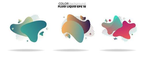conjunto de vetores de forma fluida. líquido gradiente com cores neon, item para o design de um logotipo, folheto, apresentação, cartão-presente, cartaz na parede, página de destino, livro de capa, banner, postagem em mídia social