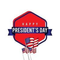 ilustração de design de modelo vetorial feliz celebração do dia do presidente vetor