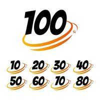 100 anos aniversário celebração vector template design ilustração logo icon
