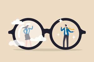 preconceito de gênero, desigualdade de sexismo no local de trabalho e conceito social, preconceito, estereótipo ou discriminação contra as mulheres