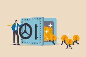 renda passiva, dinheiro fácil de ganhar com investimento ou dividendo em ações e lucro para ser o conceito de liberdade financeira vetor