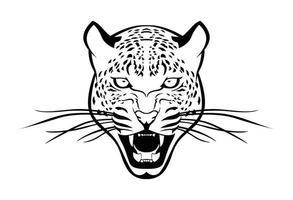 desenho e esboço de leopardo vetor