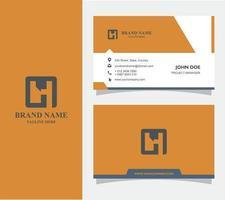 cartão de negócios com vetor de logotipo h, eps 10