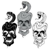 cobras e caveiras vetor
