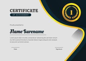 modelo de projeto de certificado para realização vetor