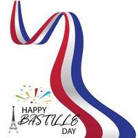 ilustração em vetor criativo, cartão, banner ou cartaz para o dia nacional francês. feliz dia da bastilha