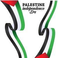 fundo feliz dia da independência da palestina vetor