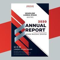 modelo de design de página de capa de relatório anual de negócios vetor