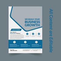 modelo de design de folheto de marketing empresarial vetor