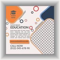 modelo de design de panfleto de marketing educacional vetor