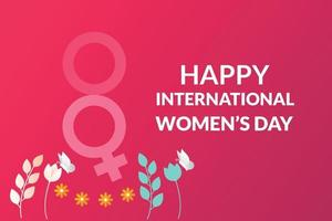 poster feliz dia internacional da mulher vetor