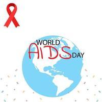ajuda fita vermelha de conscientização. conceito do dia mundial da aids. ilustração