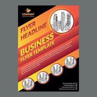 modelo de design de folheto de negócios vetor