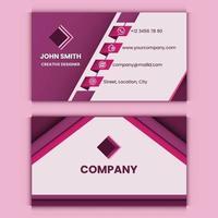 modelo de design de cartão de visita profissional vetor