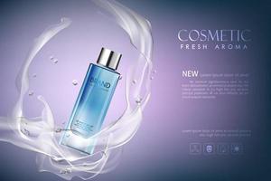 banner editável de anúncio cosmético realista