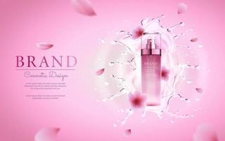 banner editável de anúncio cosmético realista vetor