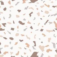 padrão sem emenda de terrazzo com peças de pedra coloridas. padrão sem emenda de terrazzo. Cores pastel. textura de mármore. padrão de mármore de piso de mosaico. ilustração vetorial.