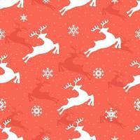 padrão sem emenda de Natal com renas e flocos de neve. projeto de decoração de natal. design para tecido, matéria têxtil, papel de parede, superfície, fundo, impressão, etc. ilustração vetorial. vetor