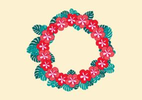 Free Vector a ilustração de leus havaianos