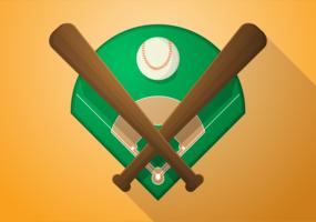 Free Vector a ilustração de diamante de beisebol
