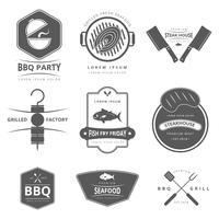 Friday Fish Fry Logo Detalhado vetor