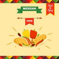 Vetores de Menu de comida mexicana