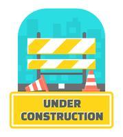 Em construção ilustração vetor