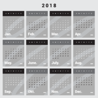 Calendário para impressão 2018 vetor