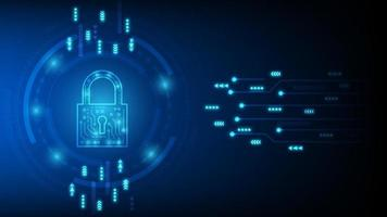 segurança da tecnologia cibernética, design de plano de fundo de proteção de rede, ilustração vetorial vetor