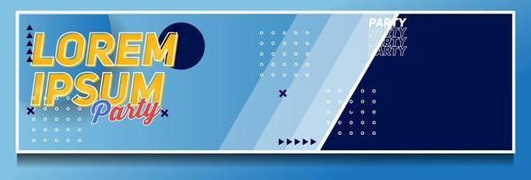 modelo de vetor de design de fundo de banner moderno abstrato