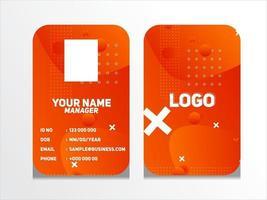 projeto de cartão de identificação geométrico abstrato simples vetor modelo de cartão de identidade profissional para funcionário e outros