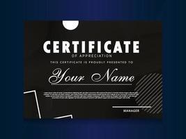 certificado de desenho geométrico template.trendy de apreciação. vetor