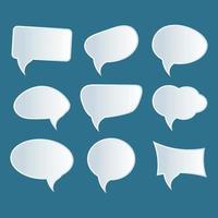 conjunto de vetores de bolha de discurso