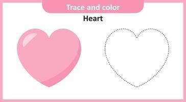 traço de coração e cor vetor