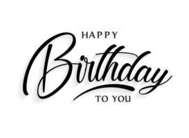 letras de feliz aniversário vetor