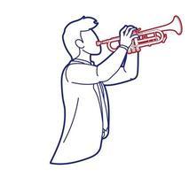 trompete músico orquestra instrumento gráfico vetorial