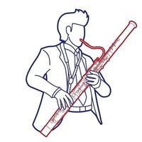 vetor gráfico instrumento fagote músico orquestra
