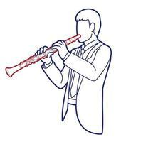 vetor gráfico instrumento clarinete músico orquestra