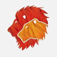 cabeça de leão e leoa vetor