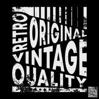 tipografia vintage original retro para carimbo de camiseta, impressão de camiseta, apliques, slogan da moda, crachá, etiqueta de roupas, jeans ou outros produtos de impressão. ilustração vetorial vetor