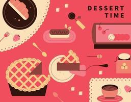 banner de sobremesa doce de padaria