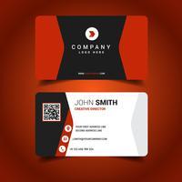Cartão de visita colorido vermelho